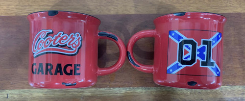 Red Vintage Cooter's 01 Rebel Flag Coffee Cup