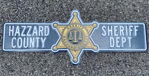 Hazzard County Sheriff Department Street Sign (24 x 5 )