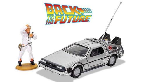Back to the Future - DeLorean w/Doc Brown Figure