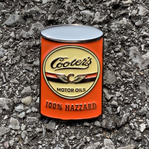 Cooter's Motor Oil Lapel Pin