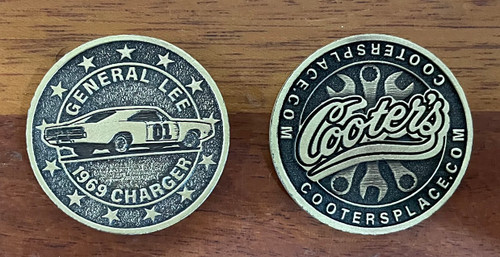 Cooter's General Lee Collector Coin  (Side View)
