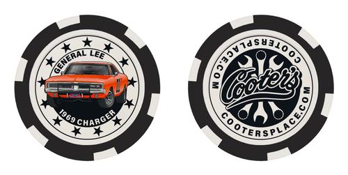 Cooter's Poker Chip - Black - General Lee