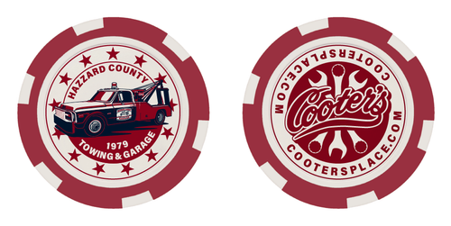 Cooter's Poker Chip - Cooter's Tow Truck - Red