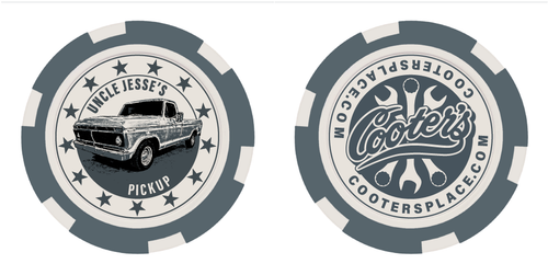 Cooter's Poker Chip - Uncle Jesse's Pickup - Grey