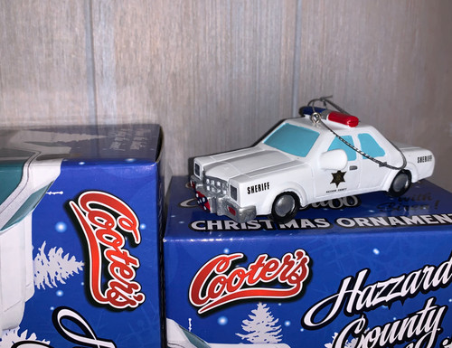 Hazzard County Sheriff Christmas Ornament W/Police Siren Sound Button