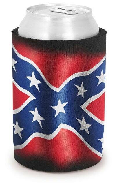 Can Coolie Confederate Flag Cooter's On The Bottom Black