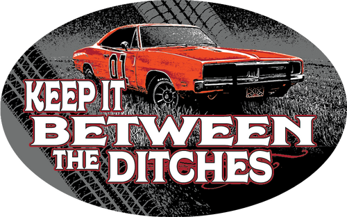 Keep It Between the Ditches Trailer Hitch Cover