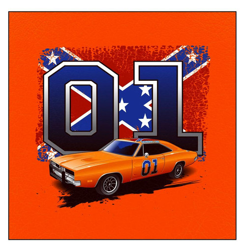 Postcard General Lee With Confederate Flag