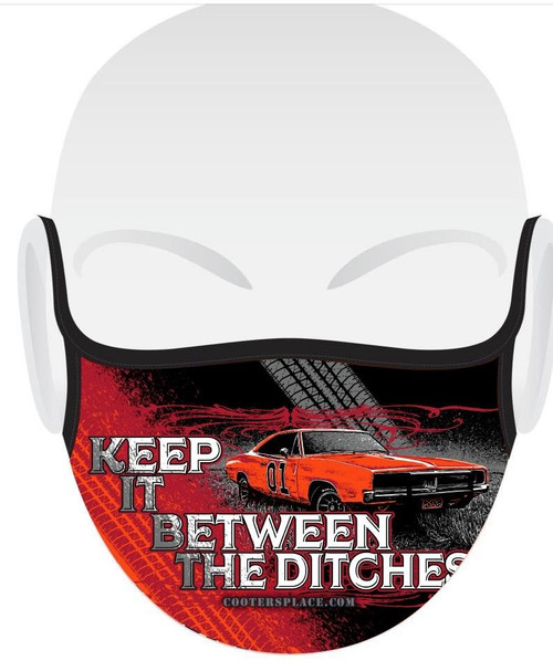 Keep it Between the Ditches Face Cover