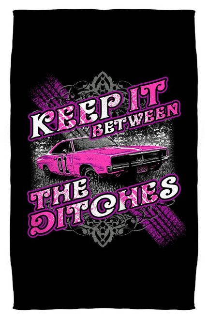"Cooter's ""Keep it Between the Ditches"" Beach Towel"