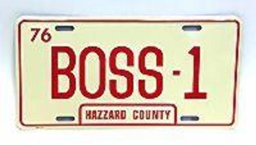 BOSS-1 License Plate (Boss Hogg's Caddy)