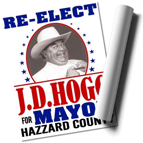 Re-Elect Boss Hogg Print (22x17)