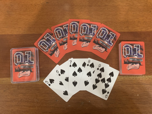 Cooter's General Lee W/ Rebel Flag 01 Playing Cards
