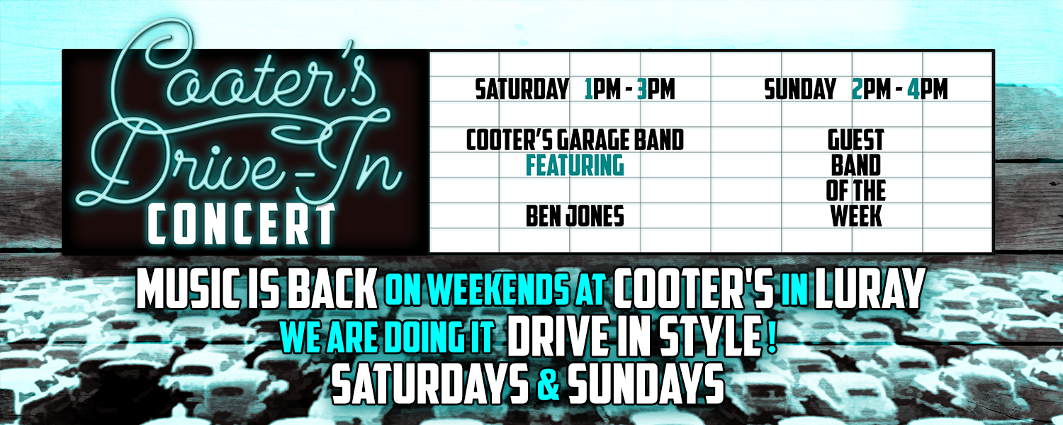 MUSIC is back @ Cooter's in Luray!