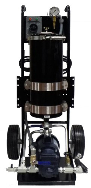 Harvard Single Housing Filter Cart for Hydraulic Oil 87S-5-T W/5 gpm Pump - SPECIAL OFFER  Include:  3% Price Off, free shipping and 2 hydraulic filter elements 100H