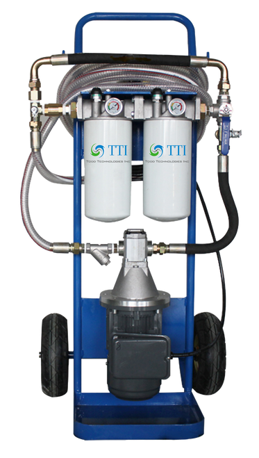 TTI Filter Cart A portable filtration solution for decontaminating systems and transferring oils.