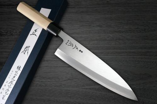 Masamoto KS Honkasumi Gyokuhaku-ko Japanese Chefs Ai-Deba Knife 225mm KS2422