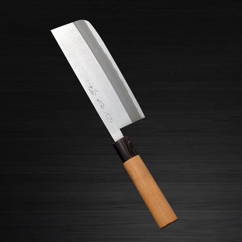 Sakai Kikumori Supreme Shiroko White steel Japanese Chefs NakiriVegetable 165mm