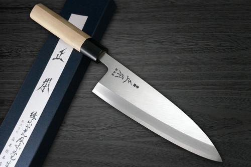 Masamoto KS Honkasumi Gyokuhaku-ko Japanese Chefs Deba Knife 225mm KS2022