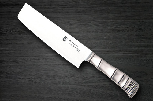Tamahagane Bamboo 3-Layer Stainless Japanese Chefs NakiriVegetable 180mm