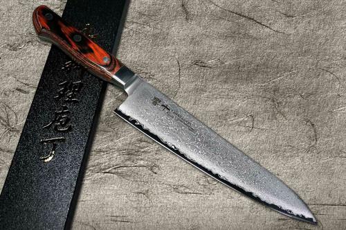 Tamahagane Kyoto 63 Layer-Damascus Wood Handle Japanese Chefs Gyuto Knife 180mm