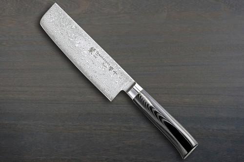 Tamahagane SAN Kyoto 63 Layer-Damascus Japanese Chefs NakiriVegetable 180mm