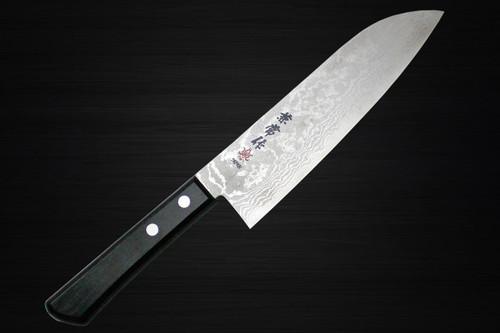 Kanetsune KC-300 VG10 17-Layer Damascus Japanese Chefs Santoku Knife 180mm