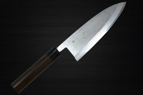 Kanetsune KC-400 White Steel 11-Layer Damascus Japanese Chefs Deba Knife 210mm