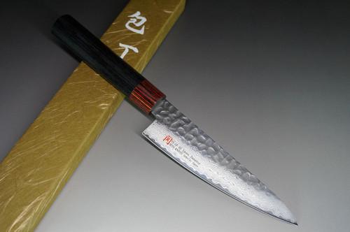 Iseya I-series 33 Layer VG-10 Damascus Hammered Japanese Chefs Santoku Knife 135mm