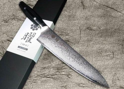Yaxell YO-U 69-Layer VG-10 Damascus Japanese Chefs Gyuto Knife 210mm