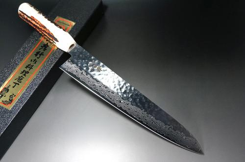 Sakai Takayuki 45-Layer AUS10 Damascus DHW Japanese Chefs Gyuto Knife 240mm with White Antler Handle