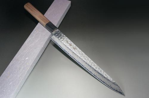 Sakai Takayuki 45-Layer Damascus Hammered WA Japanese Chefs SlicerSujihiki 240mm