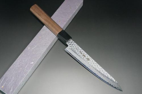 Sakai Takayuki 45-Layer Damascus Hammered WA Japanese Chefs Petty KnifeUtility 150mm