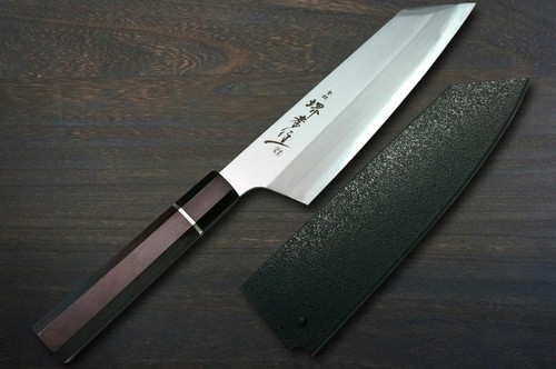 Sakai Takayuki Homura Premium Aogami 2 steel Japanese Chefs Kengata-Santoku Knife 195mm