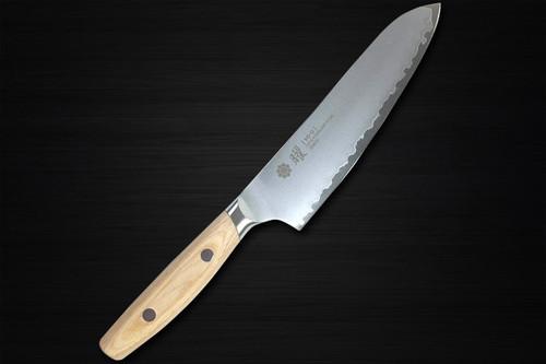 Yaxell YO-U bianco 3-Layer VG-10 Japanese Chefs Santoku Knife 145mm