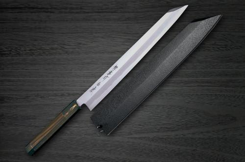 Sakai Takayuki Byakko White Tiger White 1 steel Japanese Chefs Kiritsuke-YanagibaSashimi 330mm