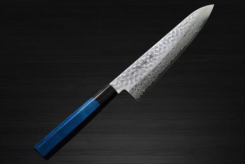 Sakai Takayuki 45-Layer Damascus Indigo Japan-Blue Chefs Gyuto Knife 180mm