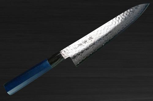 Sakai Takayuki 45-Layer Damascus Indigo Japan-Blue Chefs Gyuto Knife 240mm