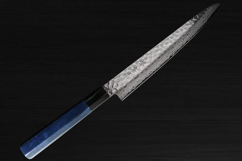 Sakai Takayuki 45-Layer Damascus Indigo Japan-Blue Chefs SlicerSujihiki 240mm