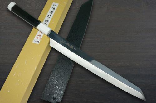 Sakai Takayuki Ginryu Dragon Premium Honyaki Japanese Chefs Kengata-YanagibaSashimi 300mm