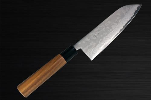 Kanetsune KC-440 VG1 Stainless Damascus Japanese Chefs Santoku Knife 165mm