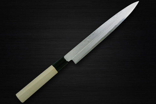 Kanetsune KC-500 White Steel 11-Layer Damascus Japanese Chefs YanagibaSashimi 210mm