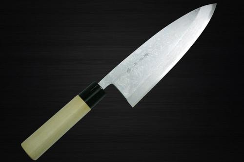 Kanetsune KC-500 White Steel 11-Layer Damascus Japanese Chefs Deba Knife 210mm