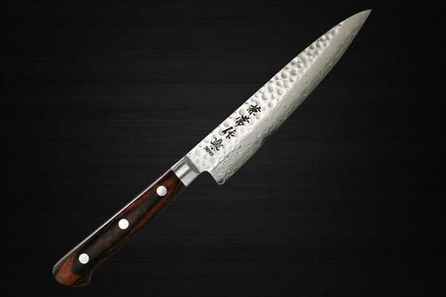 Kanetsune KC-900 VG10 17-Layer Damascus Hammered Japanese Chefs Petty KnifeUtility 140mm