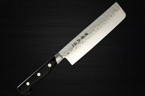 Kanetsune KC-920 Aogami No.2 Steel Hammered Japanese Chefs NakiriVegetable 165mm