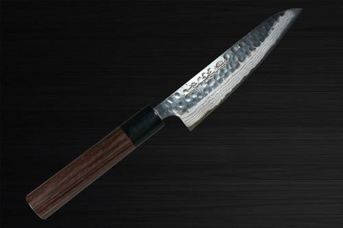Kanetsune KC-930 Aogami No.2 Damascus Kurouchi Japanese Chefs Petty KnifeUtility 135mm