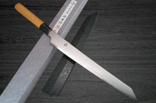 Sakai Takayuki Homura Kogetsu Aogami 2 steel Japanese Chefs Kengata-YanagibaSashimi 300mm Hien