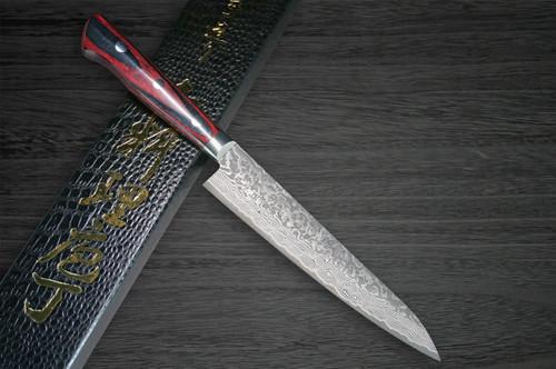 Yoshimi Kato 63 Layer VG10 Black Damascus PW Japanese Chefs Petty KnifeUtility 150mm with Laminated Wood Handle
