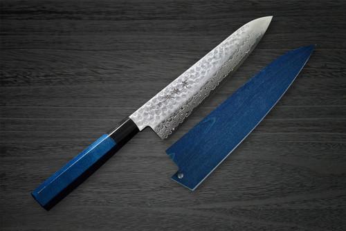 Sakai Takayuki 45-Layer Damascus Indigo Japan-Blue Chefs Gyuto Knife and Saya SET 210mm