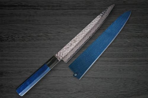 Sakai Takayuki 45-Layer Damascus Indigo Japan-Blue Chefs SlicerSujihiki and Saya SET 240mm